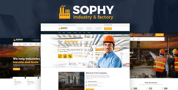 Sophy – Industrial And Engineering HTML Template - Corporate Site Templates
