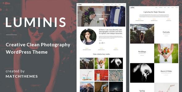 Luminis - Photography WordPress Theme for Wedding, Travel, Event Portfolios - Photography Creative