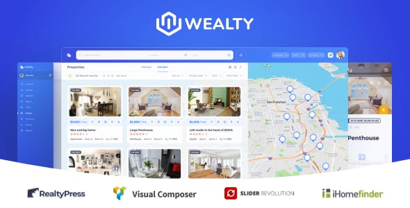 Wealty - Multipurpose Real estate WordPress Theme nulled theme download