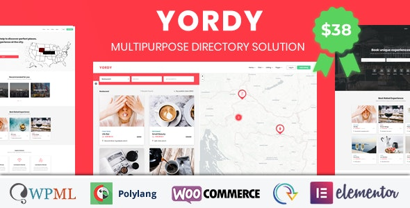 Yordy - Directory Listings WordPress Theme - Directory & Listings Corporate
