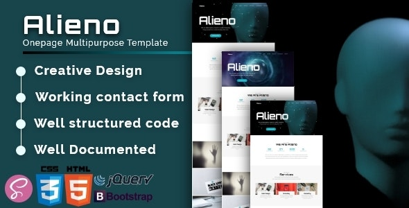 Alieno - Onepage Multipurpose Template - Creative Site Templates