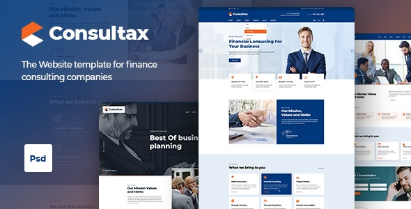 Consultax | Finance Consulting PSD Template - Business Corporate