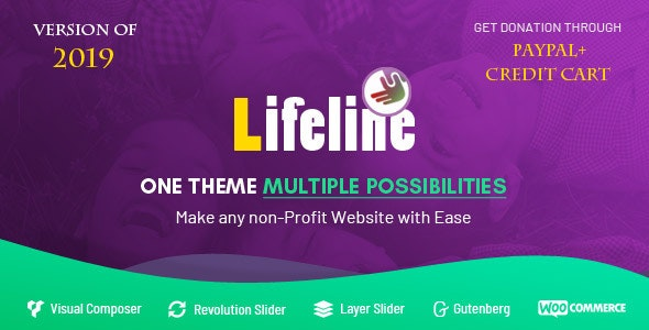 Lifeline - NGO, Fund Raising and Charity WordPress Theme for Charity Foundation and Organization - Charity Nonprofit