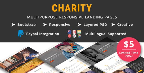 CHARITY - Multipurpose Responsive HTML Landing Pages