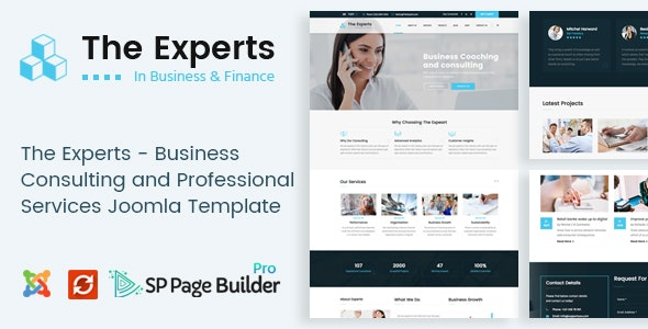 The Experts - Business Consulting and Professional Services Joomla Theme