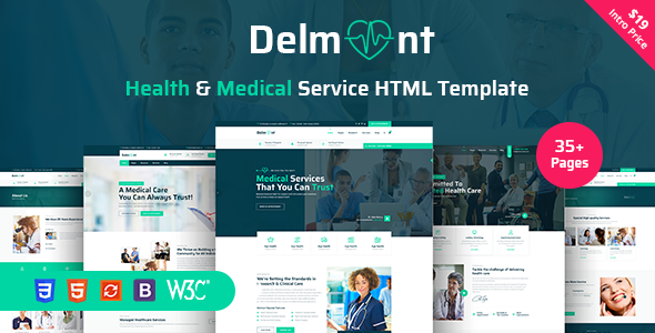 Delmont - Medical & Medical Health HTML5 Template - Health & Beauty Retail