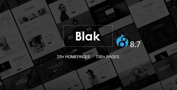 Blak - Responsive Multi-Purpose Drupal 8.7 Theme - Corporate Drupal