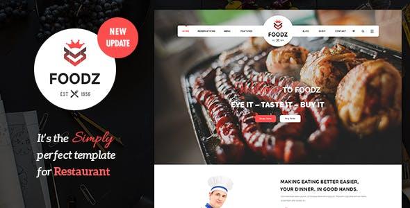 Foodz - Restaurant, Spa & Salon Joomla Template