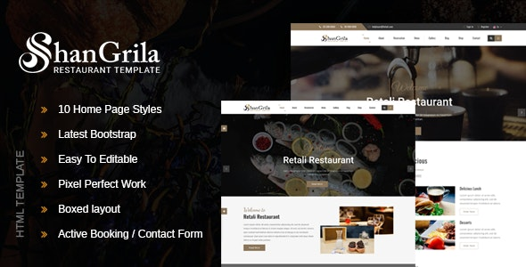 ShanGrila - Food & Resturant HTML Template - Food Retail