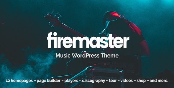 Firemaster - A Creative Music WordPress Theme - Music and Bands Entertainment