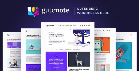 Gutenote - Gutenberg Blog - Blog / Magazine WordPress