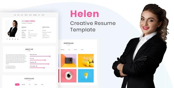 Helen - Creaive Resume Template - Portfolio Creative