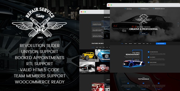 CarRepair - Auto Mechanic & Adjustment WordPress Theme - Business Corporate