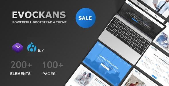 Evockans - Multi-Purpose Business Drupal 8.7 Theme - Business Corporate