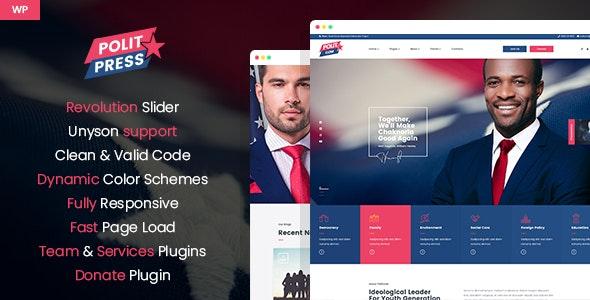 Politpress - Multipurpose Political WordPress theme - Business Corporate