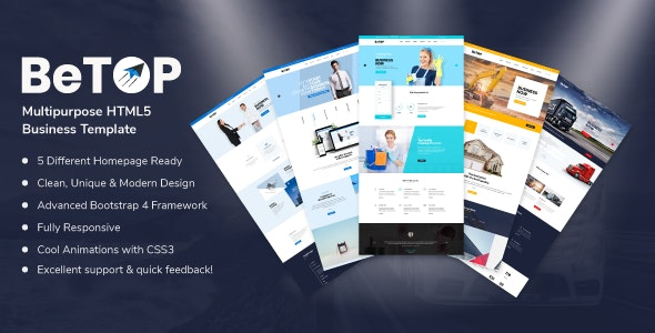BeTOP - Multipurpose HTML5 Business Template - Corporate Site Templates