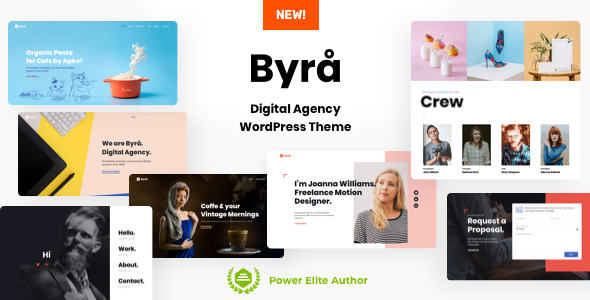 Byra - Portfolio Agency WordPress - Portfolio Creative