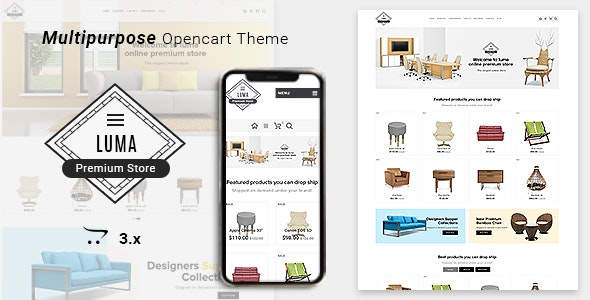 Luma Furniture Responsive Opencart 3 Stores - Miscellaneous OpenCart