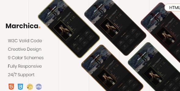 Marchica - Personal Portfolio Template - Portfolio Creative