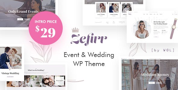 Zefirr - Event & Wedding Agency WP Theme nulled theme download