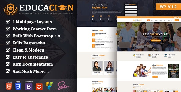 Educacion - Education Course WP - Business Corporate