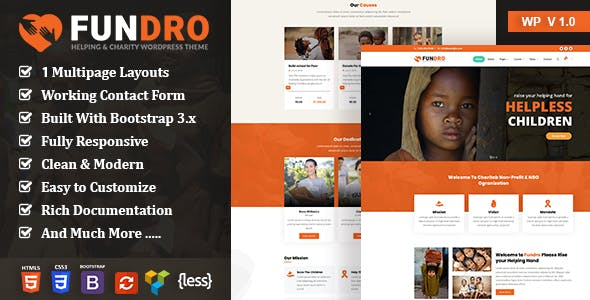 Fundro - Nonprofit Charity WordPress Theme nulled theme download