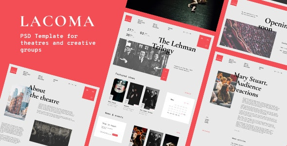 Lacoma — Theatre PSD Template - Events Entertainment