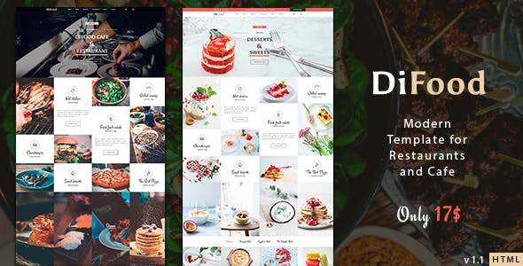 DiFood - Restaurant And Cafe HTML Template