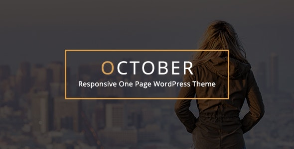 October - Responsive One Page WordPress Theme - Portfolio Creative