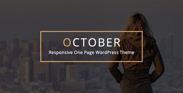 October - Responsive One Page WordPress Theme - Creative WordPress