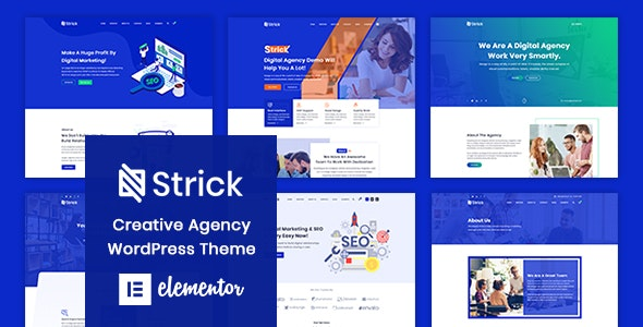 Strick - Creative Agency WordPress Theme - Corporate WordPress