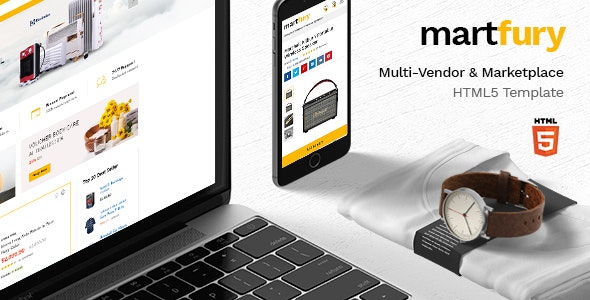 Martfury - Multipurpose Marketplace HTML5 Template with Dashboard - Retail Site Templates