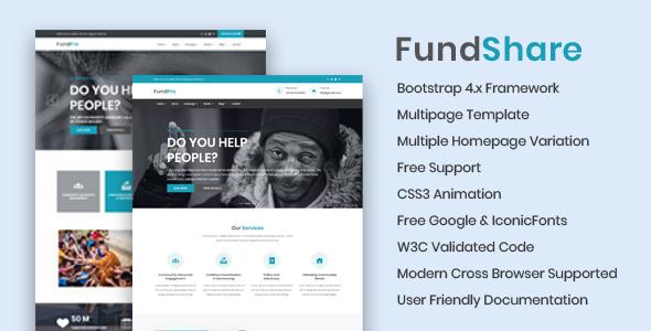 FundShare - Premium HTML Template - Nonprofit Site Templates