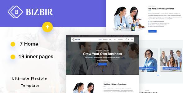 Bizbir - Multi-Purpose Business Template - Site Templates