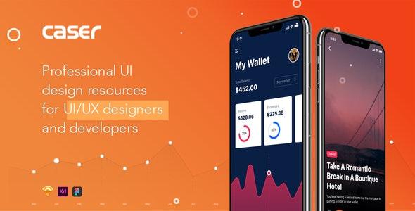 CASER - Mobile UI Kit for IphoneX - Creative Sketch