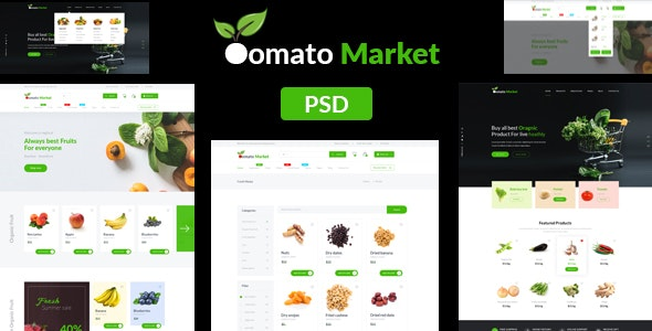 Oomato Market - Organic Store PSD Template - Food Retail