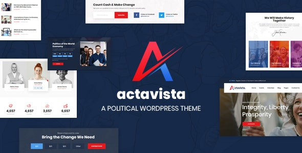 Actavista - A Responsive Political WordPress Theme For Politicians and Political Organizations - Political Nonprofit