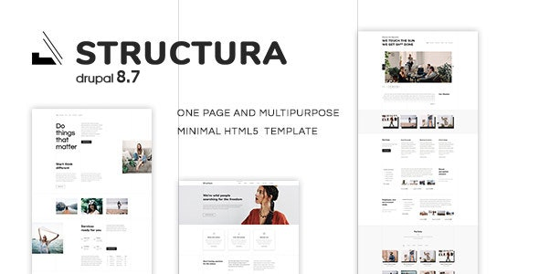 Structura - One Page And Multipurpose Minimal Drupal 8.8 Theme - Corporate Drupal