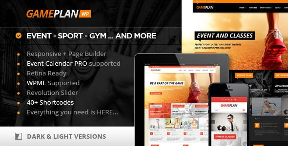 Gameplan - Event and Gym Fitness WordPress Theme by CactusThemes