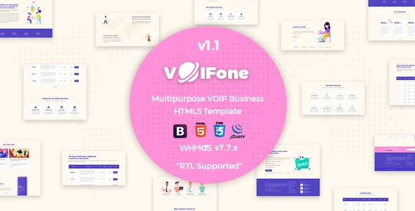 Voifone | Multipurpose VOIP Business HTML5 Template - Technology Site Templates