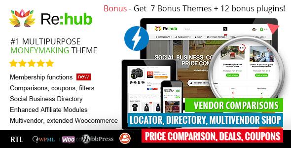 REHub - Price Comparison, Multi Vendor Marketplace, Affiliate Marketing, Community Theme - Blog / Magazine WordPress