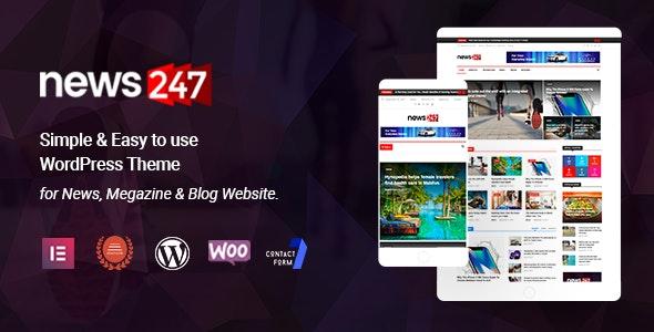 News247 - News Magazine WordPress Theme - News / Editorial Blog / Magazine