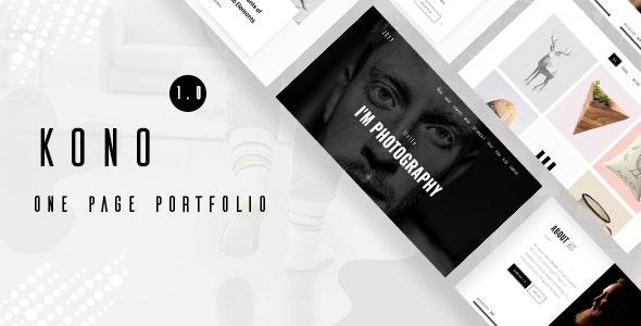 Kono - Personal / Portfolio and Resume Template - Portfolio Creative