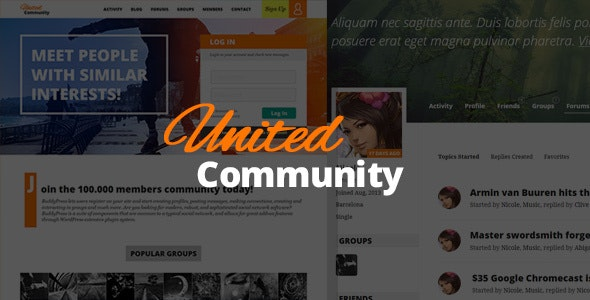 UnitedCommunity - BuddyPress Membership Theme - BuddyPress WordPress