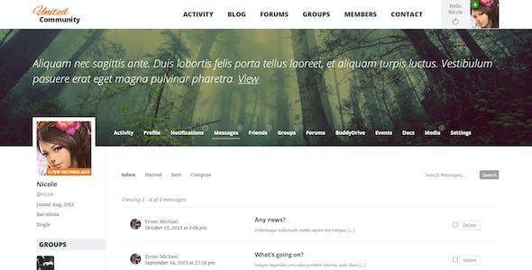 UnitedCommunity - BuddyPress Membership Theme