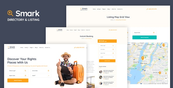 Smark - Booking and Rentals HTML Template - Corporate Site Templates