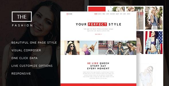The Fashion - Model Agency One Page Beauty Theme - Fashion Retail