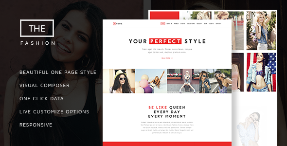 340d84ed663 The Fashion - Model Agency One Page Beauty Theme - Fashion Retail