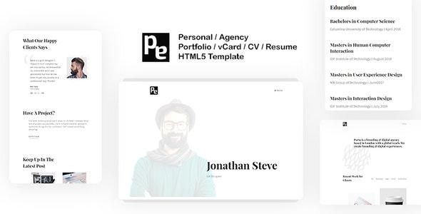 Porta   Multipurpose Personal Portfolio / vCard / CV / Resume Template - Portfolio Creative