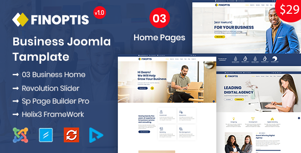 Finoptis - Business Joomla Template - Corporate Joomla
